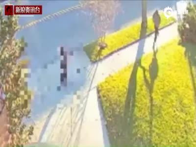 监拍中国女留学生在美遭蒙面男割颈 嫌犯逃逸