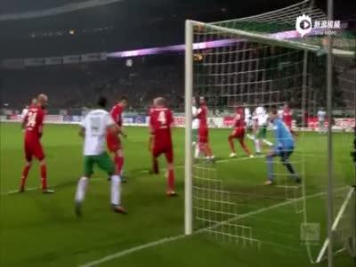 科隆连续四场不胜 客场与不莱梅1-1战平