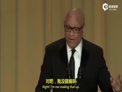 中字:拉瑞-威尔莫在白宫记者晚宴调侃奥巴马