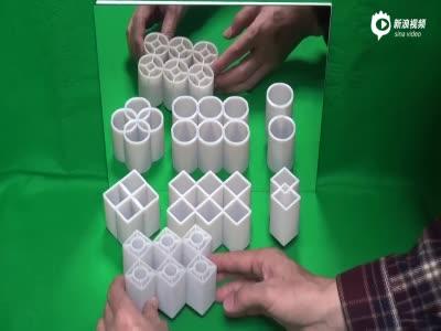 日本教授制造惊人视觉幻象 把方形变圆形