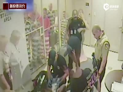美国狱警突犯心脏病 在押戴手铐罪犯破门救人