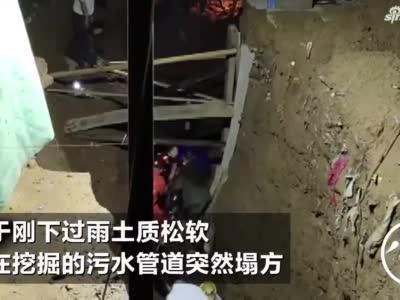 深夜工地塌陷工人被埋,洛阳消防生死营救半小时