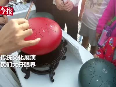 """""""鹅卵石""""发出奇妙音乐 郑州市民:像从千年穿越而来"""