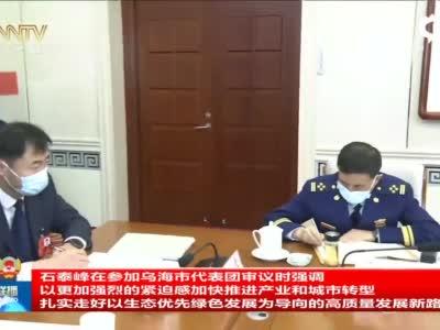 石泰峰来到乌海市代表团参加审议,这样强调...