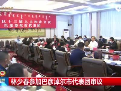 林少春参加巴彦淖尔市代表团审议