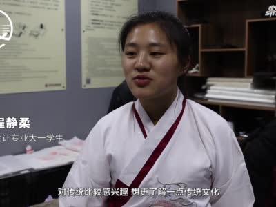 """河南高校宿舍里建汉画像""""博物馆"""",学生着汉服学拓印技术"""